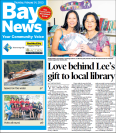 """Love behind Lee's gift to local library"" - A story about New Zealand Author Lee Murray giving books to a school library for Int'l Book Giving Day."
