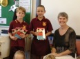 Aussie author Dianne Wolfer giving books to kids at Lockyer Primary School in Albany Western Australia.