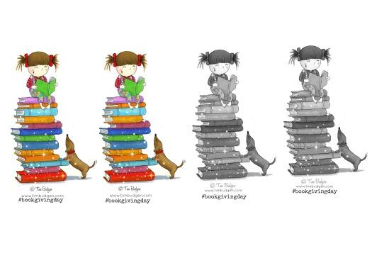 #bookgivingday Bookmarks designed by Tim Budgen