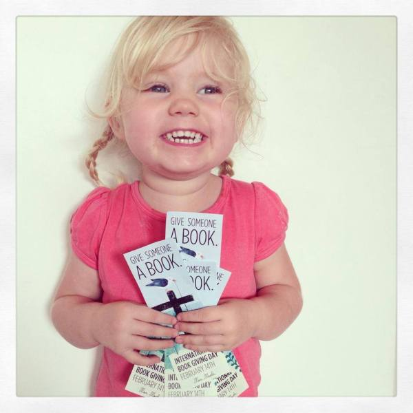 Just love this gorgeous smile! International Book Day is VERY exciting, especially when you are clutching Marc Martin's beautiful bookmarks. Thanks to Megan at Children's Book Daily, Australia.