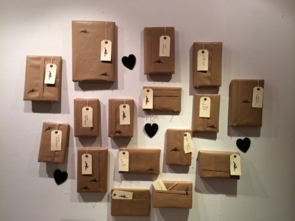 Golden Hare Books in Edinburgh, UK. Celebrating International Book Giving Day 2014 by offering their customers a 'blind date with a book'. £1 from each sale goes to Room to Read. Love it!!