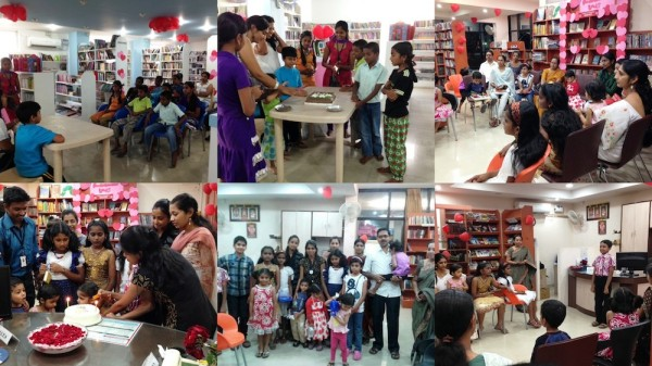 Mysore JUST BOOKS Kalidasa branch & Kuvempunagar branch celebrated International Book Giving Day 2014.