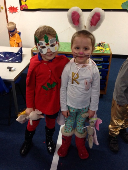Rhino Reads delivers books to 4 year old Super Heros on International Book Giving Day 2014.