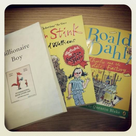 Author & editor Danny Pearson put these on the train in London,UK ... ready for someone to find on International Book Giving Day.