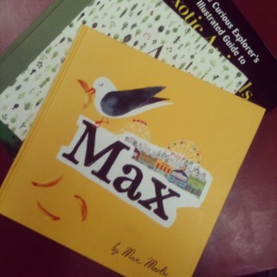 Not only has Marc Martin illustration designed a stunning bookmark for us ... he has also donated these gorgeous books to 100 Story Building in Melbourne, Australia for International Book Giving Day 2014.