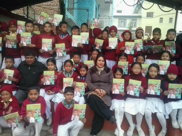 International Book Giving Day 14 FEB 2014 `JAGAT MANDIR SCHOOL, NEPAL