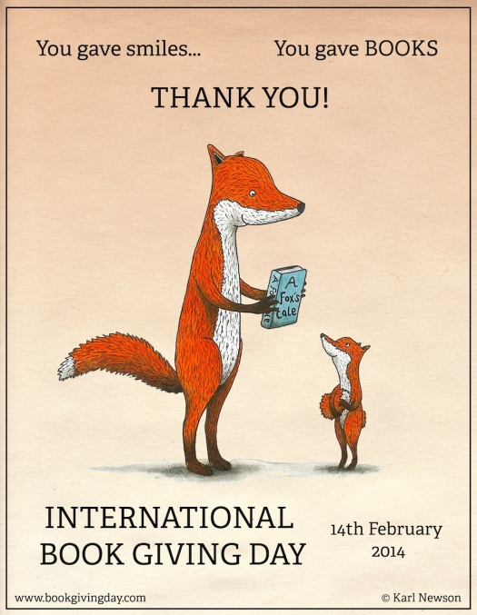THANK YOU poster - Book Giving Day