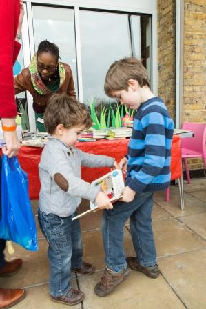 Discover's London Children's Book Swap.  Photography by Tim Mitchell