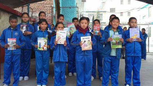 """NEPAL: """"Grade X students of JAGAT MANDIR Higher Secondary School gave books to the students who read the maximum number of books from the library. Every year Grade X organise the picnic by collecting the amount and the remaining amount they buy the books and give to the students. This time they gave to the students who read the maximum number of books from the library.'"""