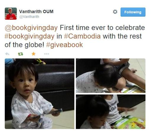 CAMBODIA: Vantharith gifts books to his niece
