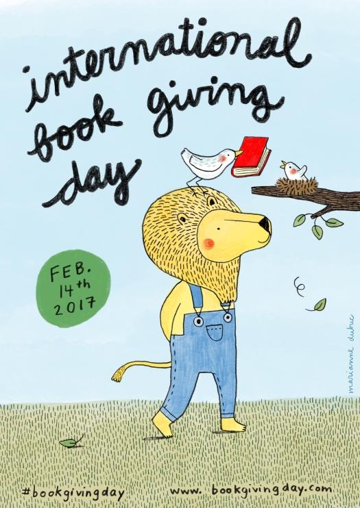 #bookgivingday 2017 Poster - Marianne Dubuc
